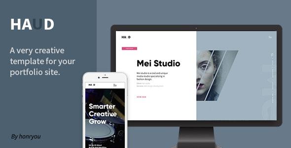 Haud - Creative Portfolio Template - Portfolio Creative