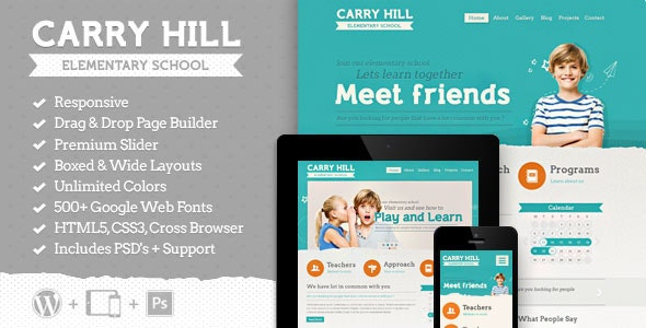 Carry Hill School - Education Wordpress Theme - Education WordPress
