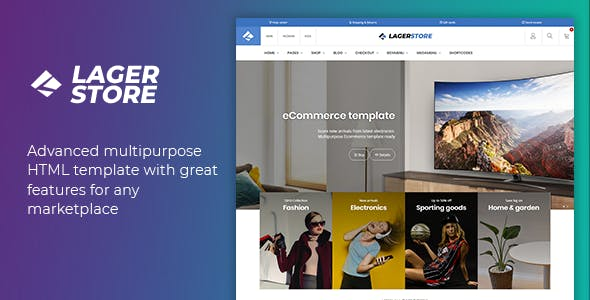Lager - eCommerce HTML Template