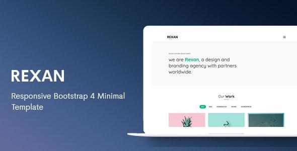Rexan - Responsive Bootstrap 4 Minimal Template - Portfolio Creative