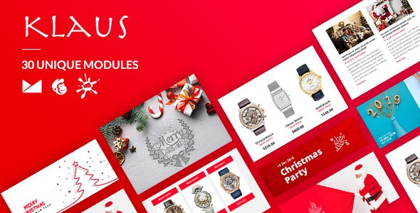 Klaus Email-Template + Online Builder - Newsletters Email Templates