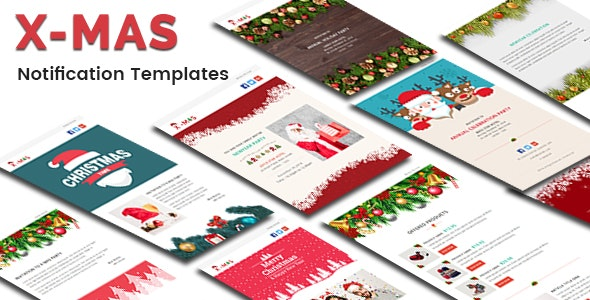 X-MAS - Responsive Newsletter and Notification Template - Email Templates Marketing