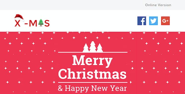 X-MAS - Responsive Newsletter and Notification Template