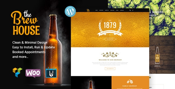BrewHouse | Brewery / Pub / Restaurant WordPress Theme - Restaurants & Cafes Entertainment