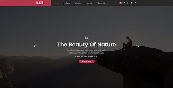 Bloger | Creative Minimal PSD Template