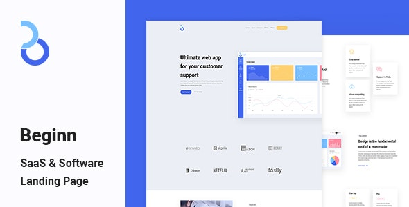 Beginn - SaaS & Software Landing Page - Business Corporate