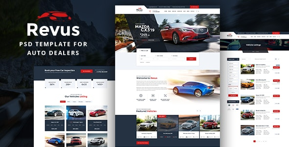 Revus - Autodealer PSD Template - Retail Photoshop