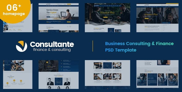 Consultante | Business Consulting & Finance PSD Template - Business Corporate