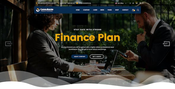Consultante   Business Consulting & Finance PSD Template