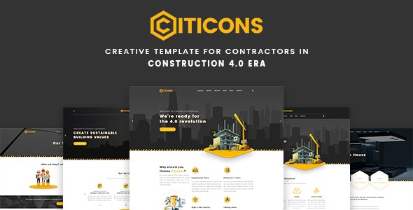 Citicons - Construction & Building PSD Template - Corporate Photoshop