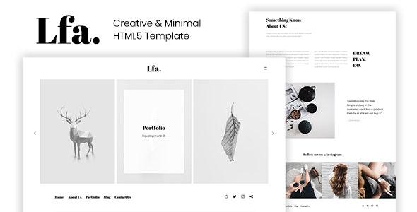 Lfa. - Creative & Minimal HTML5 Template - Creative Site Templates