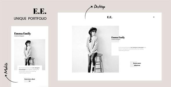 E.E. - The Unique Portfolio for Freelancers & Agencies - Portfolio Creative