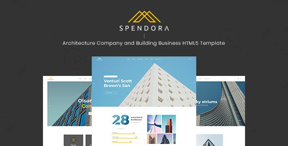 Spendora - Architecture and Building Business HTML Template