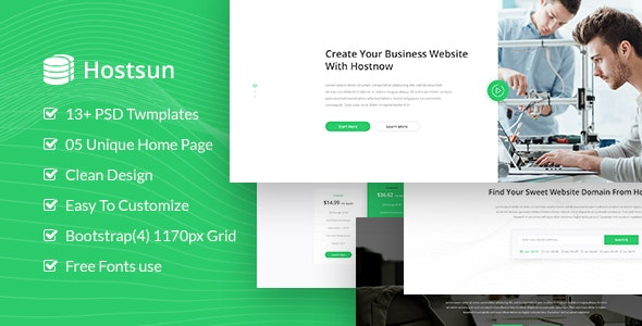 Hostsun - Web Hosting PSD Tmeplate - Hosting Technology