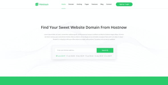 Hostsun - Web Hosting PSD Tmeplate