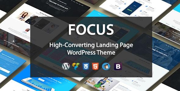 Focus High-Converting Landing Page WordPress Theme - Marketing Corporate