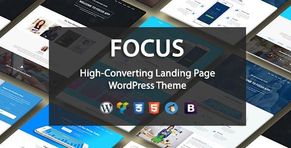 Focus High-Converting Landing Page WordPress Theme