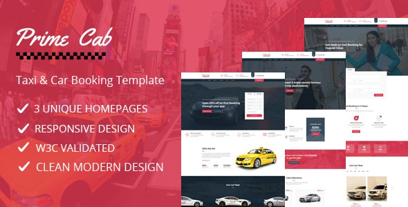 Prime Cab - Taxi | Car Booking Template - Business Corporate