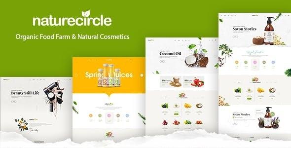 Naturecircle - Organic Food & Beauty Shop HTML Template - Food Retail