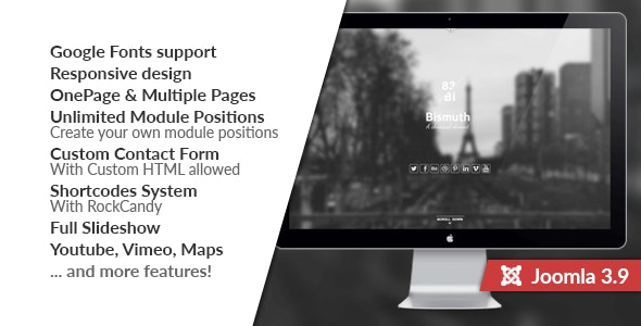 Bismuth :: All in One Responsive Joomla Template - Portfolio Creative