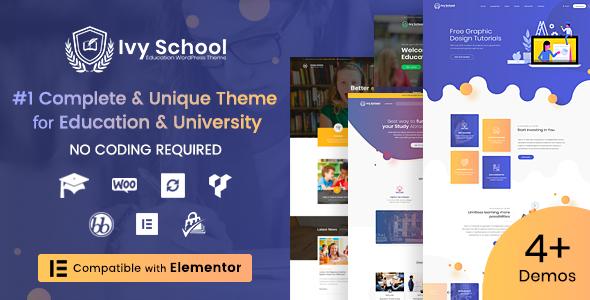 Ivy School – Education, University & School WordPress Theme - Education WordPress
