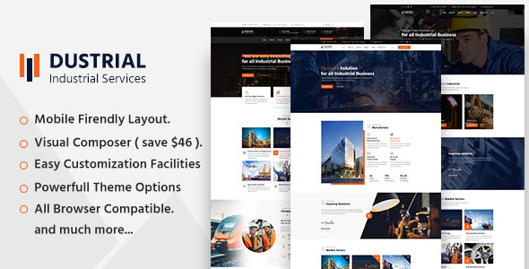 Dustrial - Factory & Industrial WordPress Theme - Business Corporate