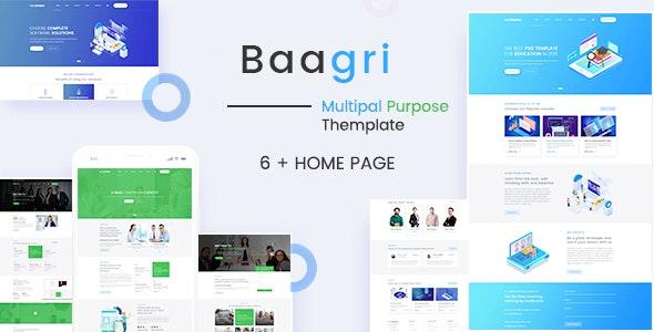 Baagri Multipurpose PSD Template - Corporate Photoshop