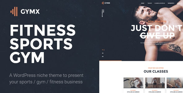 Gym X - Fitness & Sports WordPress Theme - Health & Beauty Retail
