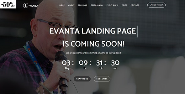 Evanta - Responsive Html5 Multipurpose Event Landing Page - Events Entertainment