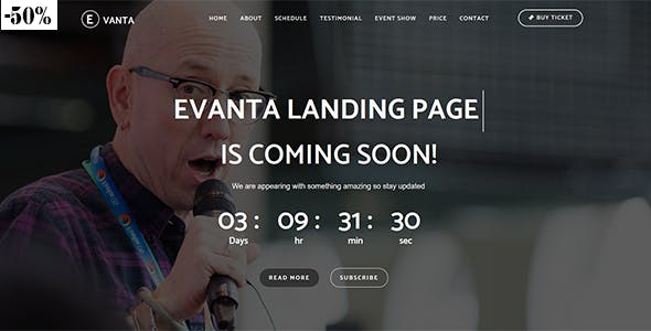 Evanta - Responsive Html5 Multipurpose Event Landing Page