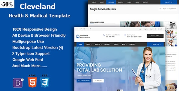 Cleveland - Responsive Health And Medical Template - Health & Beauty Retail