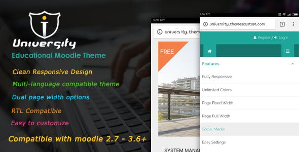 Download University - Responsive Moodle Theme
