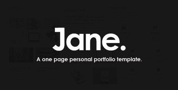 Jane - A Personal Portfolio Template - Creative Site Templates