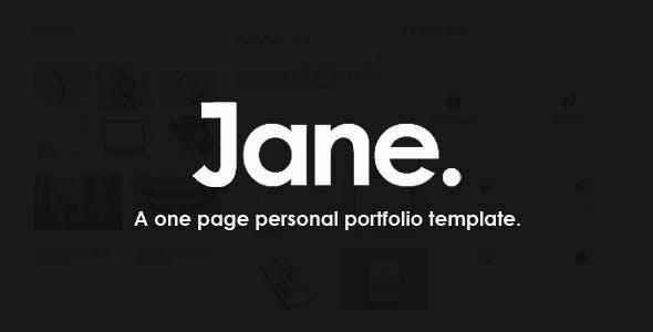 Jane - A Personal Portfolio Template