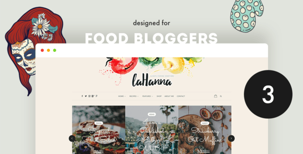 Lahanna - Food Blog WordPress Theme - Personal Blog / Magazine