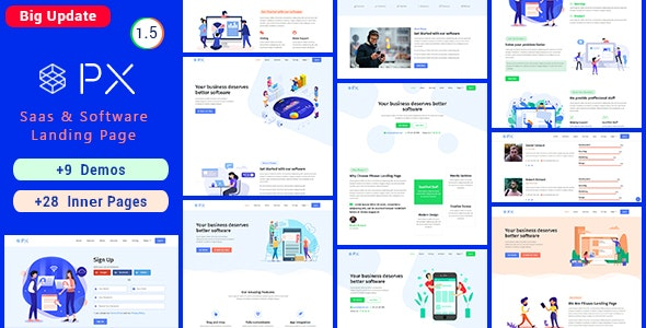 PXsaas - Saas & Software Landing Page - Software Technology