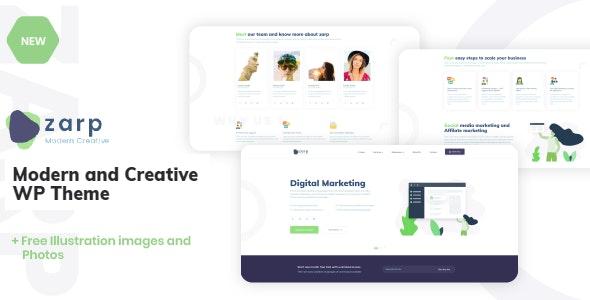Zarp - Creative and Modern WP Theme - Creative WordPress