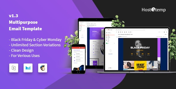 Hostetemp - Multipurpose Email Templates - Email Templates Marketing