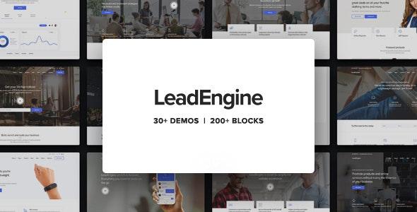 LeadEngine - Multi-Purpose WordPress Theme with Page Builder - Business Corporate