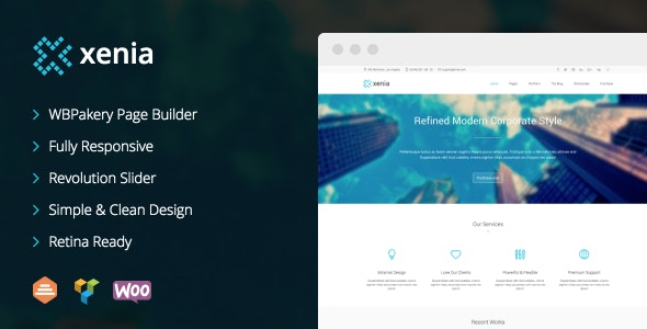 Xenia - Refined WordPress Corporate Theme - Corporate WordPress