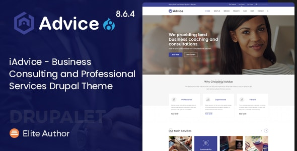 iAdvice - Business Consulting and Professional Services Drupal 8.9 Theme - Business Corporate