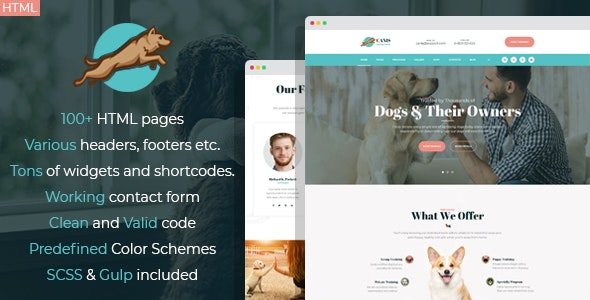 Venator - dog behavior and obedience training HTML Template - Business Corporate