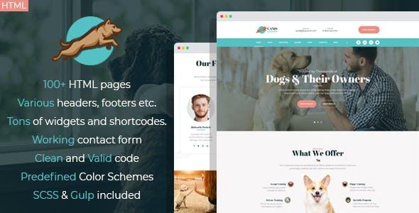 Venator - dog behavior and obedience training HTML Template