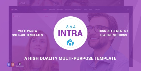 Intra - One Page Multi And Purpose Drupal 8.7 Theme - Business Corporate