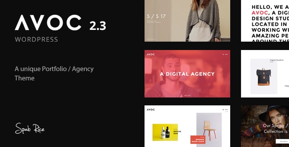 Avoc - Unique and Minimal Portfolio / Agency WordPress Theme - Portfolio Creative