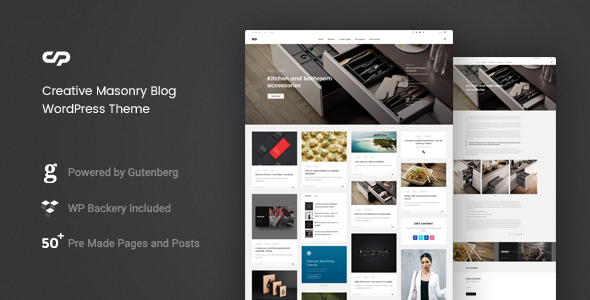 ClaPat - Creative Masonry Blog WordPress Theme - Blog / Magazine WordPress