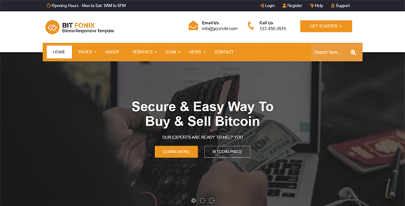 Bitfonix - ICO, Bitcoin And Cryptocurrency Responsive HTML5 Template - Business Corporate