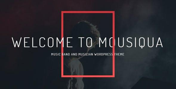 Mousiqua   Music Band & Musician OnePage WordPress Theme