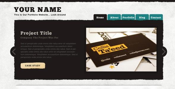 Textured Portfolio Site - Portfolio Creative