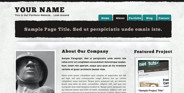 Textured Portfolio Site